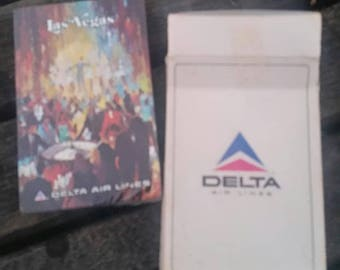 vintage DELTA AIRLINES deck of Playing Cards sealed Las Vegas