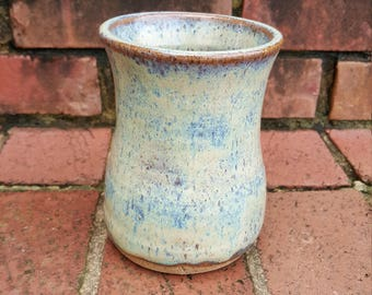 Wheel Thrown Vase Handmade Pottery with Stoneware Clay