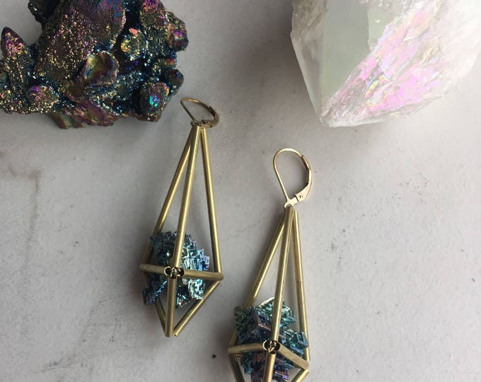 Bismuth Himmeli Earrings