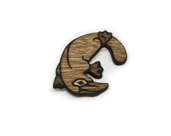 Wooden Platypus Pin