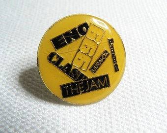 Vintage 80s Enamel Brian Eno - 999 - The Clash - The Jam - Ramones - Ultravox - Pin / Button / Badge