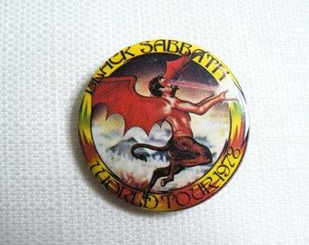 Vintage 70s - Black Sabbath - 1978 Never Say Die Album World Tour - Pin / Button / Badge