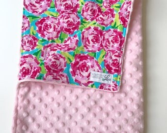 READY TO SHIP -- Lily Rose Newborn with carnation minky