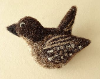 Bird Brooch | Cute Little Gifts | 7th Anniversary Gift | Handmade Animal Brooch Bird Lover Gift | Flying Bird Pin Badge Felt Brooch Jewelry