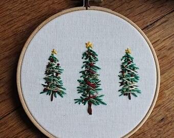 "Embroidery Hoop ""Christmas Tree"""