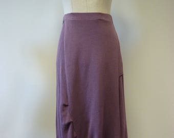 Casual grape cotton skirt, L size.