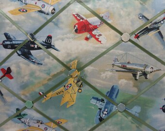 These French Memory Board/Note Board wall hangings for home or office to post information.  Airplanes, Gold Angels, Badger, Moments, School.