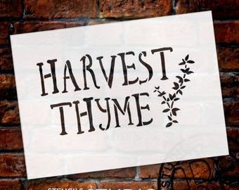 Harvest Thyme - Word Art Stencil - Select Size - STCL1993 - by StudioR12
