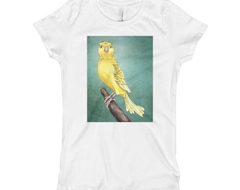 Girl's Waterslager Canary T-Shirt - Girl's Princess Tee