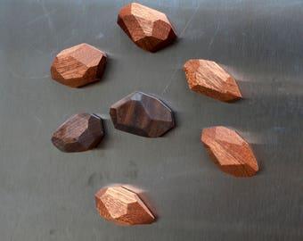 Geometric Wooden Fridge Magnets