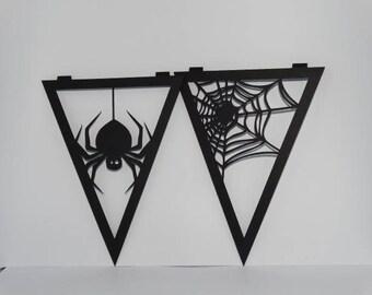 Halloween - themed halloween pennant banner