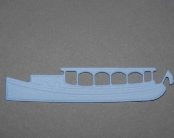 Cut out paper gondola Venice blue