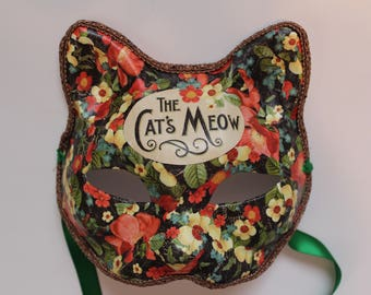 Cat's Meow flower cat mask