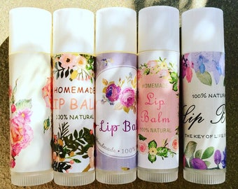 Natural Lip Balm with Essential Oils