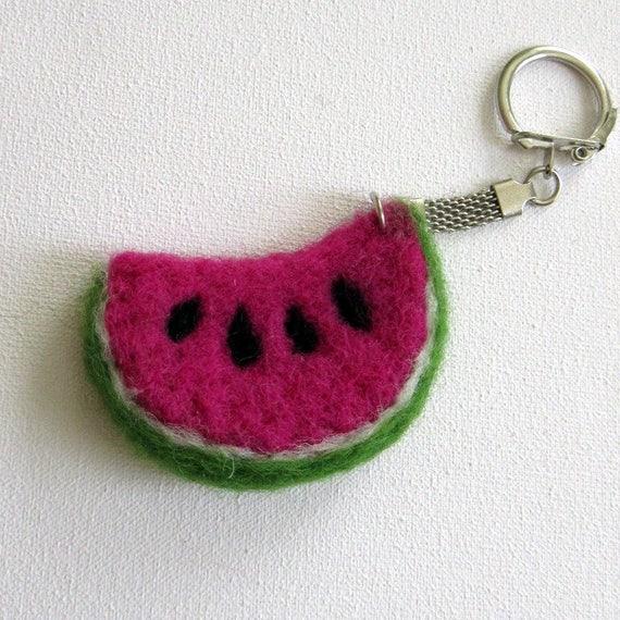 Porte clef past que en laine feutr e past que en feutre - Clef a laine ...
