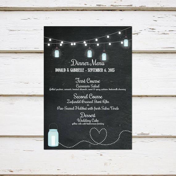 Printable chalkboard wedding menu rustic string lights bbq i do il570xn maxwellsz