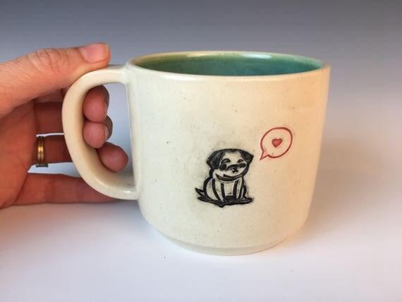 Black Pug Mug,
