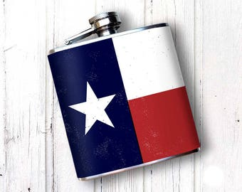 Whiskey Flask, Texas State Flag, Lone Star State, Don't Mess With Texas, Texas Longhorns, Cowboy Flask