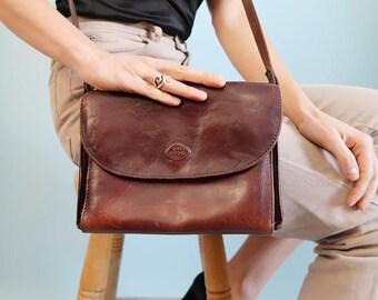 Vintage Brown Leather Purse/Shoulder Bag