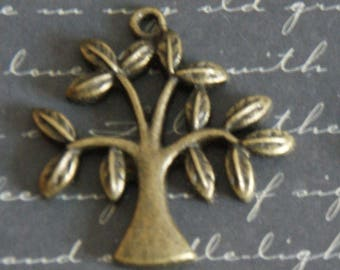 Large tree-tone charm bronze 31x30x3mm
