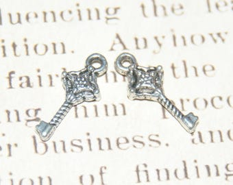 3 silver metal 20mm key charms