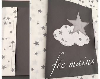 In stock: Star and cloud grey and white health book