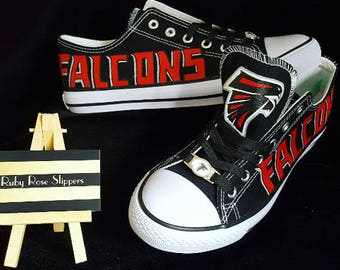 custom Atlanta FALCONS men and women sports fan hand painted shoes!