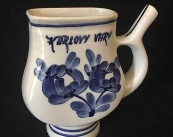 Presidential Savings Vintage Karlovy Vary Ceramic Sipping Cup Liqueur Czechoslovakia