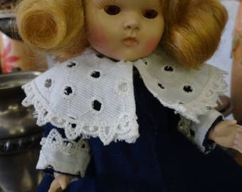 Rare Vintage Vogue Ginny Painted Lash Rootbeer Eye Transitional Doll in Tagged Vogue Jacket TLC (1321)