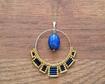 SAUTOIR Osiris Lapis Lazuli
