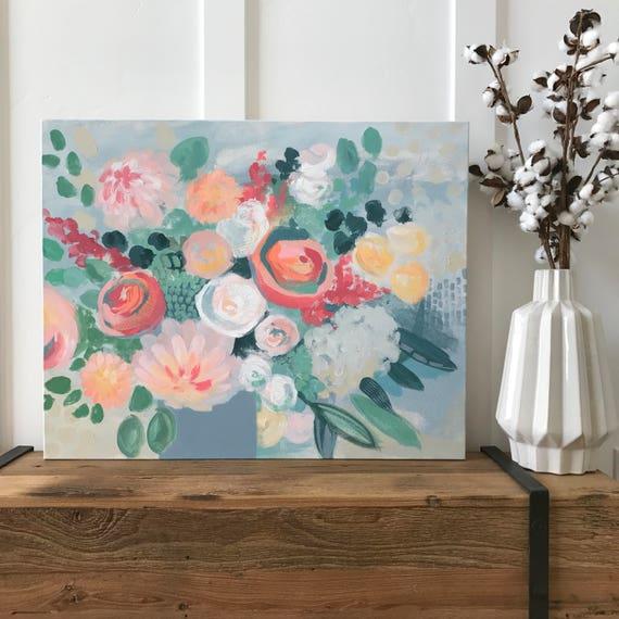 "Modern Floral Print - """""
