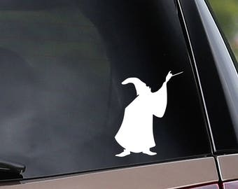Vinyl Car Decal - Merlin Inspired - Sorcerer - Wizard - Kind Arthur - Car Window Decal - Laptop Decal - Bumper Sticker