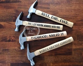Personalized Hammers // Father's Day Gift, Teacher Appreciation, Dad Birthday Gift, Grandparent's Day Gift