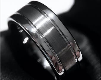 Tungsten Wedding Band, Mens Engagement Ring, Mens Anniversary Ring, His Promise Ring, Mens Tungsten Ring, Mens Ring, Tungsten Bands, Rings