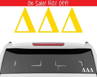50% OFF!    Tri Delta Decal | ΔΔΔ Decal | Sorority Car Decal, Sorority Vinyl Decal, Sorority Laptop Decal, Sorority Decal