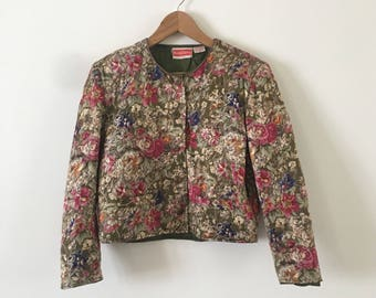Vintage René Derhy Parisian Chic Liberty Floral Statement Jacket