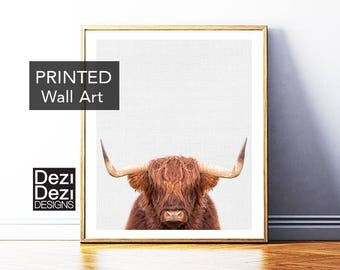 Wall Art, Highland Cow Print, Canvas Wall Art, Printed Wall Art, Printed and Shipped, framed art, framed prints, canvas art prints