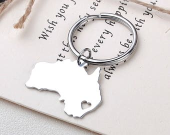 I heart Australia keychain - Australia keyring - Map Jewelry - Country Charm - Map keychain