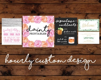 Custom Wedding and Party Graphic Design by the Hour