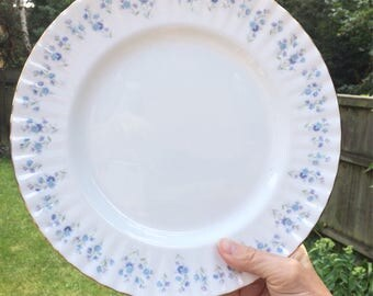 Now REDUCED - Royal Albert bone china dinner plate - Forget me Not - Memory Lane