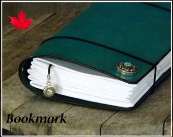 12mm Snap bookmark for leather covers chunks Noosa Gingersnaps