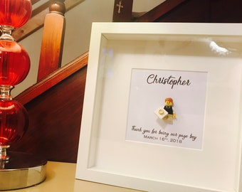 Page Boy Gift -   Personalised Lego® Frame