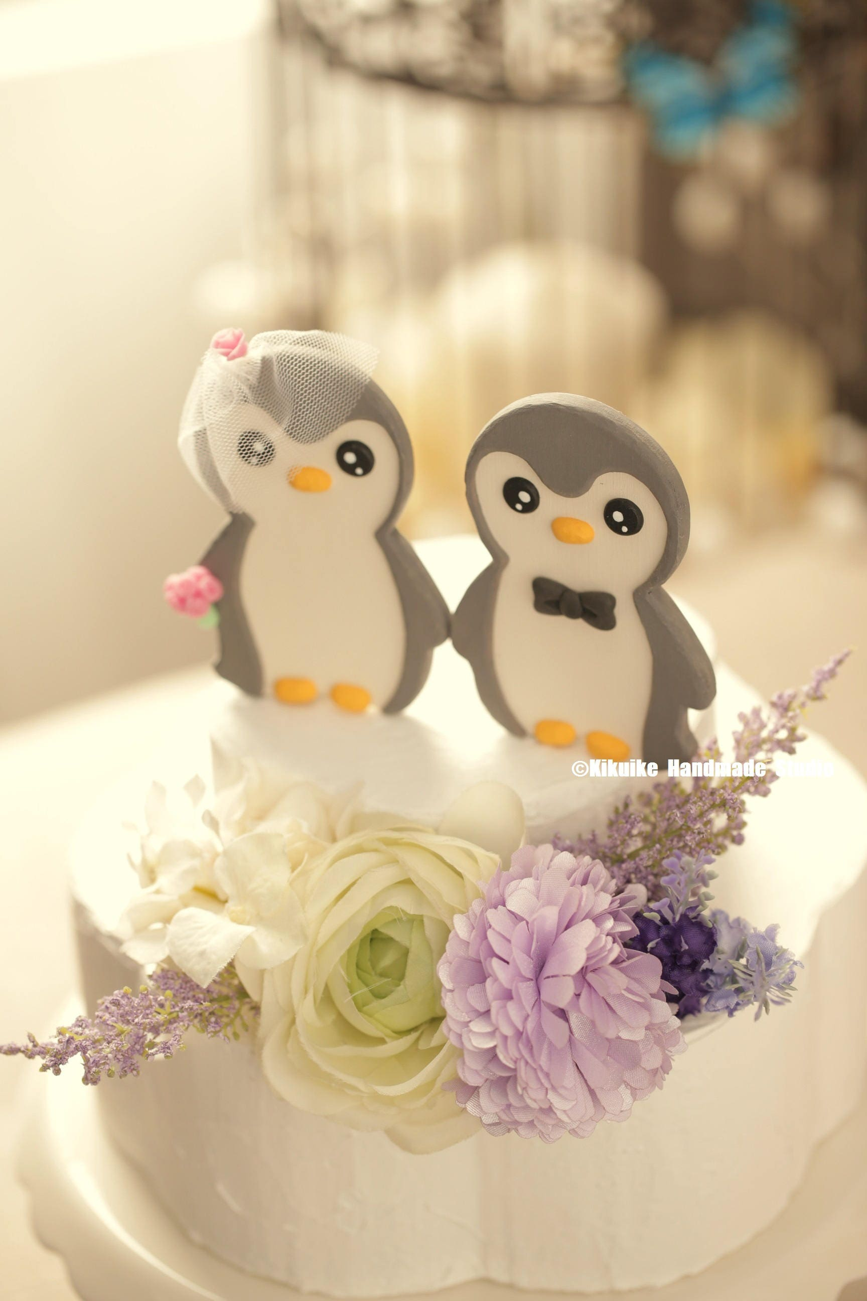 penguins wedding cake topper ,Handmade penguins cake topper ...