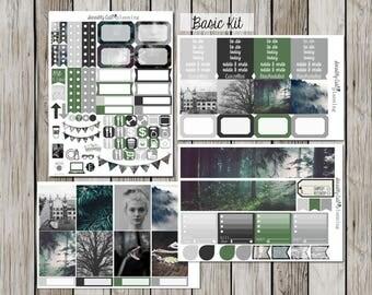 Slytherin Sticker Kit for Erin Condren Vertical Life Planner