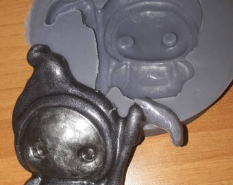 Silicone rubber mold grim reaper Kawaii