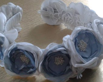 Handmade Fabric Flowers, bow.