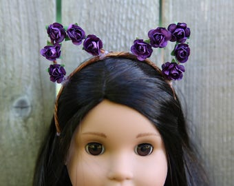 Cat Ears Headband *PURPLE* for American Girl Dolls