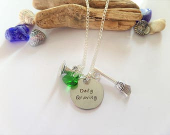 wicked fan gift, wicked musical, wicked necklace, wicked jewellery, elphaba necklace, witches necklace, witch gift,