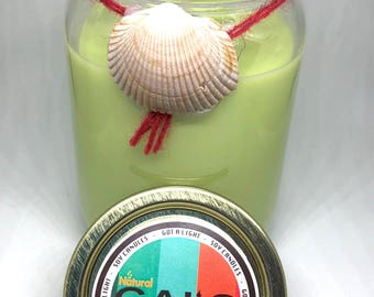 Pineapple Sage 12oz Mason Jar Soy Wax Organic Candle