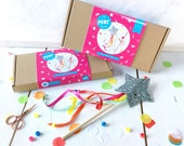 Magic wand making kit- craft kit- felt kit- craft for kids- felt craft- magic wand- fairy wand- craft- party favours- gifts for children